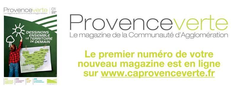 """Photo of Découvrez le 1er numéro de """"Provence Verte – Le magazine de la Communauté d'Agglomération"""""""