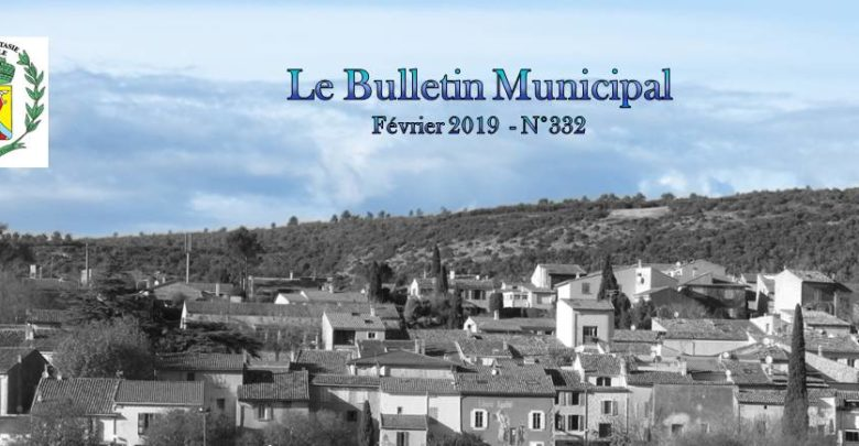Photo of Bulletin Municipal Février 2019