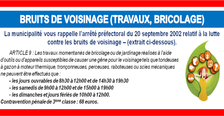 Photo of BRUITS DE VOISINAGE (travaux, bricolage)