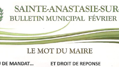 Photo of Bulletin Municipal Février 2020