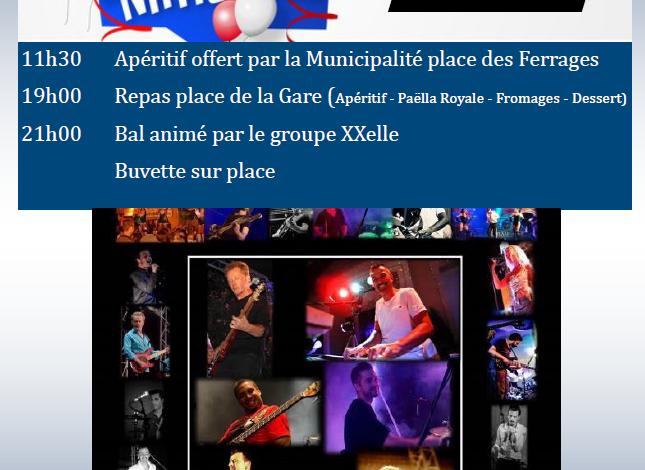 Photo of Fête Nationale – 14 juillet 2020