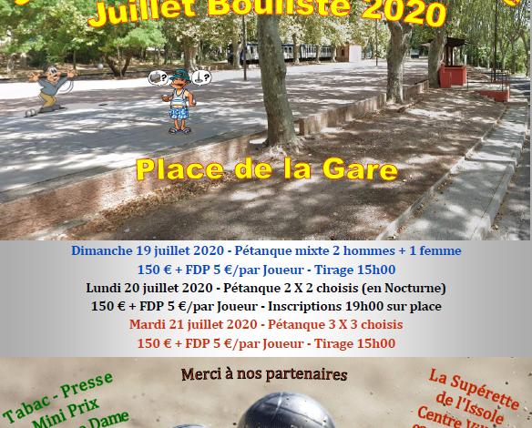 Photo of Concours de Boules – 19-20 & 21 juillet 2020
