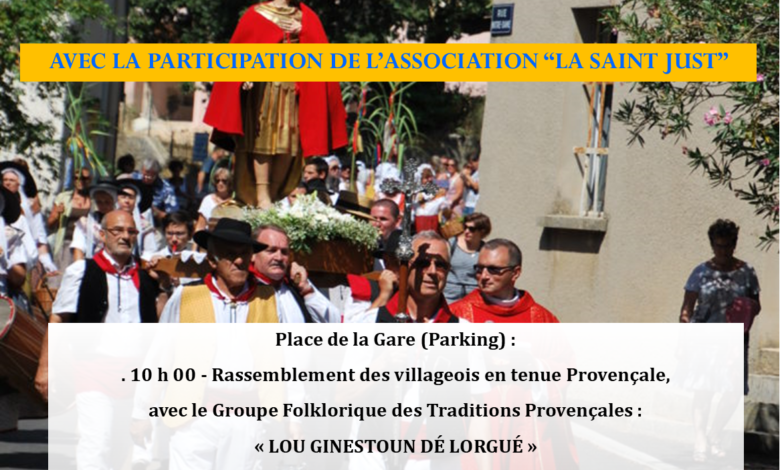 """Photo of Fête votive de la """"Saint-Just"""" – 19 juillet 2020"""