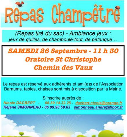 Photo of St JUST – Repas champêtre