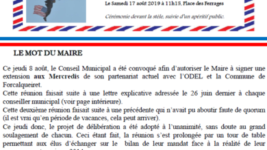 Photo of Bulletin Municipal Août 2019